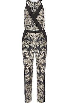 Diane von Furstenberg Shany printed silk jumpsuit | NET-A-PORTER
