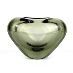 Per Lutken Holmgaard Smokey Grey Menuet Vase