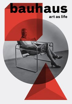 Bauhaus: Art as Life. Furniture by Marcel Breuer (22 May 1902 Pécs, Hungary – 1 July 1981 New York City). He was one of Bauhaus leading architects.