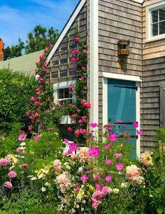 Little Cottages, Little Houses, East Coast Travel, Farm Projects, Veg Garden, English Countryside, Nantucket, Trellis, New England