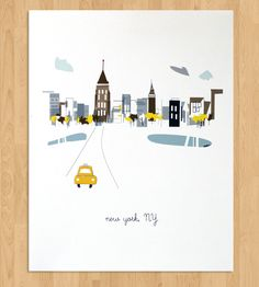 NYC Art Print by Albiedesigns on Scoutmob Shoppe