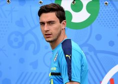"Matteo Darmian of Italy looks on during the training session at ""Bernard Gasset"" Training Center on June 10, 2016 in Montpellier, France."