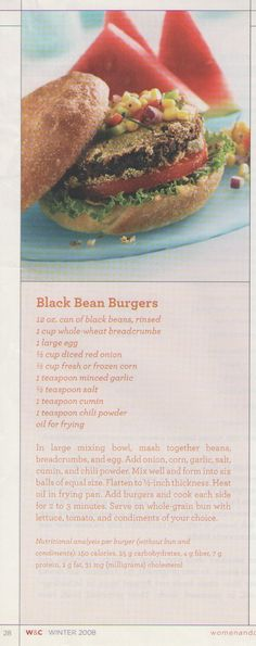 Blackbean Burgers