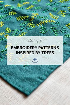 Embroidery patterns inspired by trees - Pumora - all about hand embroidery Hand Embroidery Stitches, Cross Stitch Embroidery, Cross Stitch Patterns, Tree Patterns, Wood Patterns, Embroidery On Clothes, Different Stitches, Cross Stitching, Color Splash