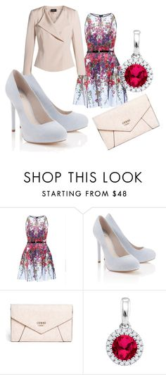 """""""ladies that lunch"""" by bipolarstar on Polyvore featuring Ted Baker, Lipsy, GUESS and Akris"""