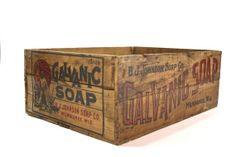 Vintage Wood Soap Crate