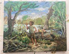 Lord Of The Rings, Woods, Dan, Painting, Instagram, Woodland Forest, Painting Art, Forests, Paintings
