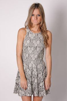 borrowed time silver lace cocktail dress