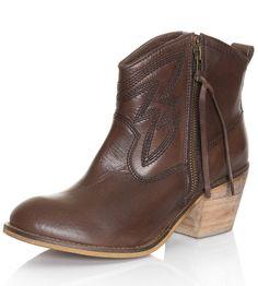 Dingo Womens Crave Side Zip Ankle Cowboy Boots - Brown