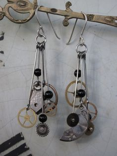 #Steam punk dangle # earrings. Don't be surprised if you find people staring at you ears all the time.