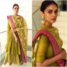 Aditi Rao Hydari in Gaurang – South India Fashion Dress Indian Style, Indian Fashion Dresses, Indian Designer Outfits, India Fashion, Pakistani Dresses, Indian Wedding Outfits, Bridal Outfits, Indian Outfits, Ethnic Outfits