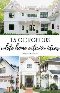 House Paint Design Exterior Fresh Best White Paint for Exterior Of House – Sevensun White Farmhouse Exterior, White Exterior Paint, White Exterior Houses, Exterior Paint Colors For House, Exterior Doors, White House Exteriors, White Siding House, Outside House Paint Colors, Exterior Stairs