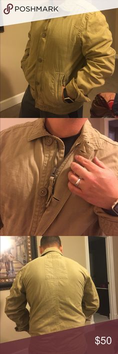 Tan jacket Tan jacket- never worn Abercrombie & Fitch Jackets & Coats