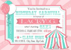 custom pink and blue carnival birthday party by feelslikeaparty 12