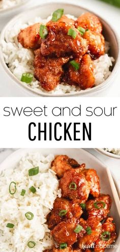 Skip the take out and make this delicious sweet and sour chicken recipe at home! The sauce is absolutely to die for and tastes amazing over the crispy breaded chicken. So delicious!
