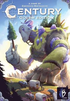 Century: Golem Edition is a re-themed version of Century: Spice Road set in the world of Caravania. In Century: Golem Edition, players are caravan leaders who travel the famed golem road to deliver crystals to the far reaches of the world. Each turn, players perform one of four actions:       Establish a trade route (by taking a market card)     Make a trade or harvest crystals (by playing a card from hand)     Fulfill a demand (by meeting a victory point card's requirements and claiming ...