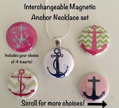 Interchangeable Magnetic Anchor Necklace or by BellyLaughButtons