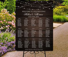 Printable seating chart wedding sign guests by PrintableMemoriesCo