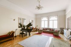 Apartment featured in Hungary's premium design magazine Otthon, brand new concert grade grand piano