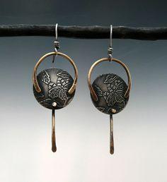 Boucles d'oreilles conceptions de Patti Wells - ego-alterego.com