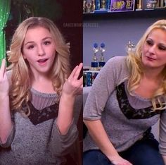 Dance Moms Chloe and her mom Christi. Aw they share clothes!!!!!