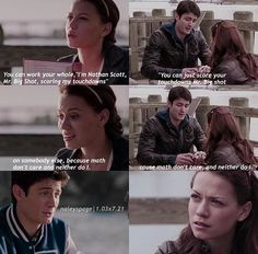 I love these two scenes Nathan Haley, Nathan Scott, Movie Quotes, Book Quotes, Bethany Joy Lenz, One Tree Hill, Me Tv, Always And Forever, Ravens