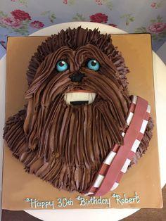chewbacca birthday cake birthday cakes pinterest chewbacca