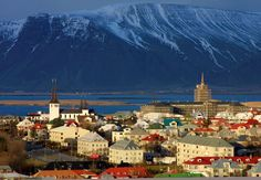 Panoramic View of Reykjavik City