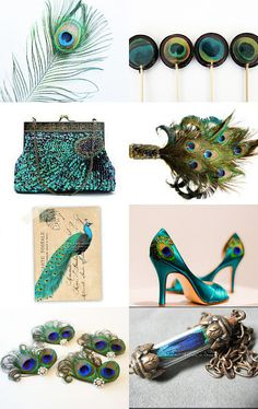 peacock accessories-love the shoes!