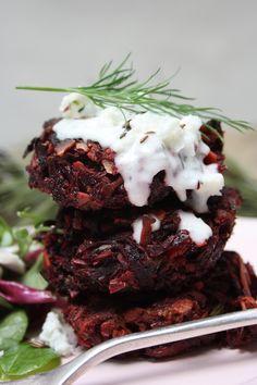 Scandinavian Beetroot Fritters with Horseradish Dill Yoghurt Sauce: Top 10 Scandinavian Recipes