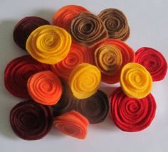 Hand made felt flower embellishments. Great fall color assortment.