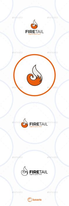 Fire Fox Tail Logo — Vector EPS #line #animal • Available here → https://graphicriver.net/item/fire-fox-tail-logo/11944155?ref=pxcr