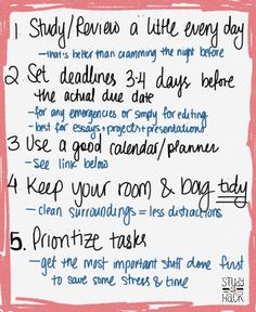 "study-hack: ""New post on the blog! I haven't posted this kind in a while, but they seem to be so popular I think I'll start doing it again :) 5 Habits of Organized Students 