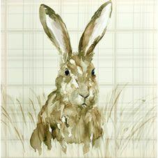 Wilko Hare Canvas 48x48cm