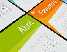 Teka's 2012 Calendar by Diana Valente, via Behance