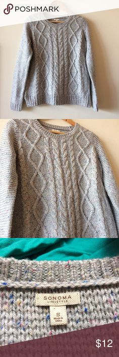 Cable knit Sweater Excellent condition, no stains, rips or pilling. Sonoma Sweaters Crew & Scoop Necks