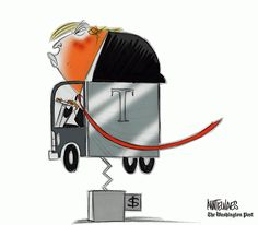 President Trump had a bad week, but at least he got to sit in a truck.