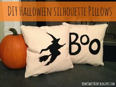 Home Sweet Ruby: DIY Halloween Pillows