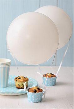 air balloon cupcakes