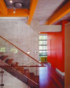 Capitol Creek - modern - Bedroom - Other Metro - Kaegebein Fine Homebuilding House Staircase, Modern Staircase, Staircase Design, Stairs, Staircases, Colorful Interior Design, Contemporary Interior, Home Interior Design, Interior Architecture