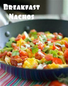 Cheesy Breakfast Nachos | AllFreeCasseroleRecipes.com