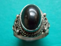 great chunky vintage silver ring with nice detail metal detecting detector find