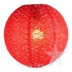 """10"""" Red Eyelet Paper Lanterns (6 Pieces)"""