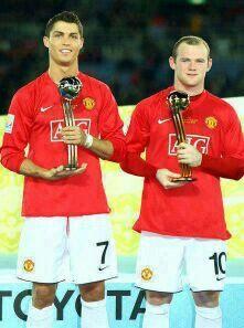 #ManchesterUnited - Cristiano Ronaldo #7 & Wayne Rooney #10