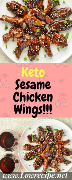 Keto Sesame Chicken Wings!!! - Low Recipe
