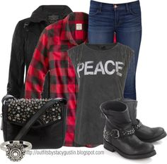 """""""plaid and peace"""" by stacy-gustin on Polyvore"""