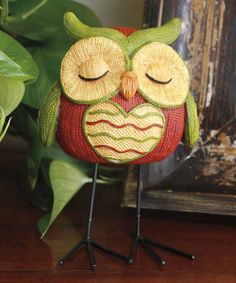 Loving this Knit Heart Sleeping Owl Figurine on #zulily! #zulilyfinds