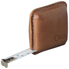 Pocket sized leather-cased tape measure, from OKA
