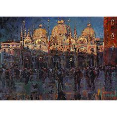 St Marks Venice, Brilliant work, even the shadow colours pop...By Arthur Maderson