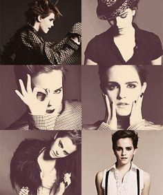 Rockin the pose 😎 Emma Watson Short Hair, High Fashion Models, Up Tattoos, Beauty Shoot, Films, Movies, Pixie Cut, Photoshoot Ideas, Celebrity Crush